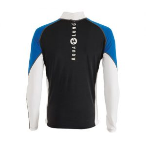 AQUALUNG Mens Rash Guard Blue Tropic - Back - Phuket Dive Tours