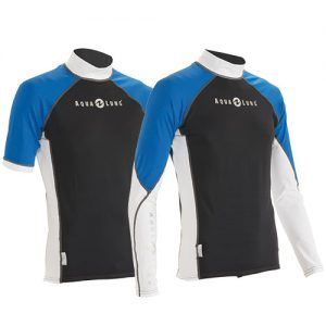 AQUALUNG Mens Rash Guard Blue Tropic - Phuket Dive Tours