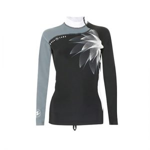 AQUALUNG Women Rash Guards - Black Ice - Front - Phuket Dive Tours
