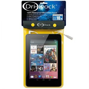 Dri-Dock mini tablet pouch Yellow - Phuket Dive Tours