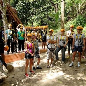 Safety presentation for zip lining